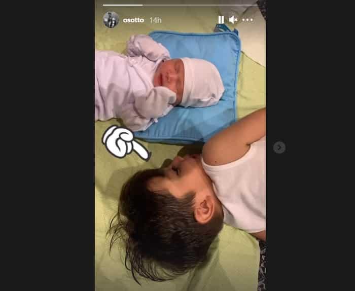 Kristine Hermosa & Oyo Sotto's newborn baby boy meets his big brother