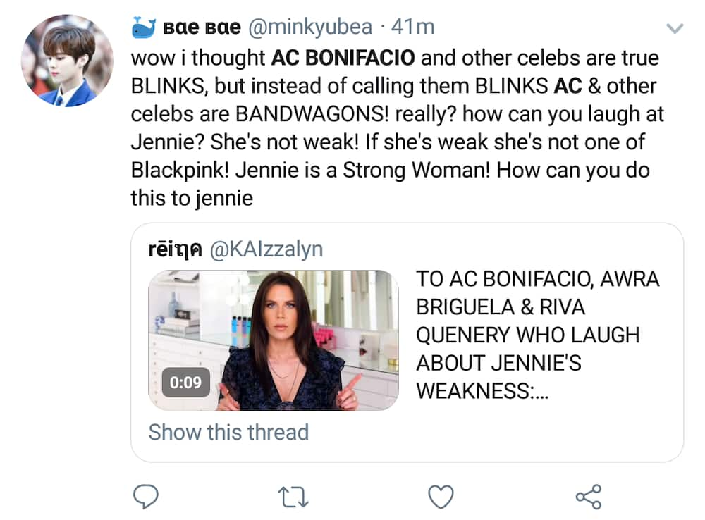 Netizens express anger at AC Bonifacio, Riva Quenery, and Awra for laughing at BLACKPINK's Jennie