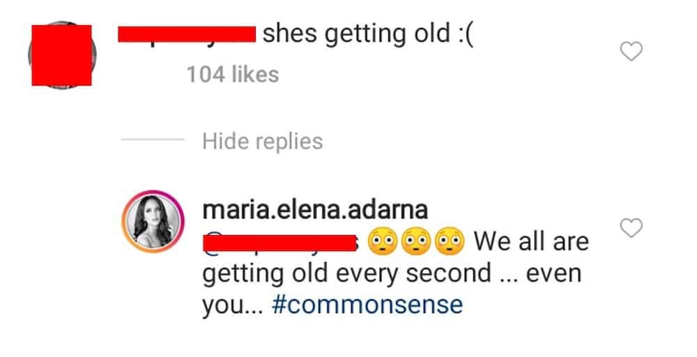 Ellen Adarna lambasts netizen who suddenly told her that she's getting old