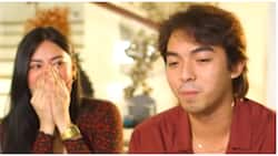 Camille Trinidad gets emotional when Jayzam Manabat was asked about his cheating issues in 'KMJS'