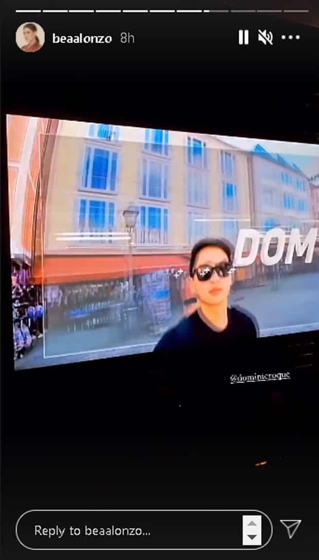 Bea Alonzo, nag-share ng vlog teaser trailer ni Dominic Roque; netizens, kinilig