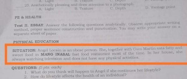 """Angel Locsin body-shamed in DepEd module, called as """"obese person"""""""