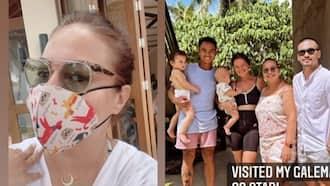 Karla Estrada, binisita si Andi Eigenmann at ang pamilya nito sa Siargao