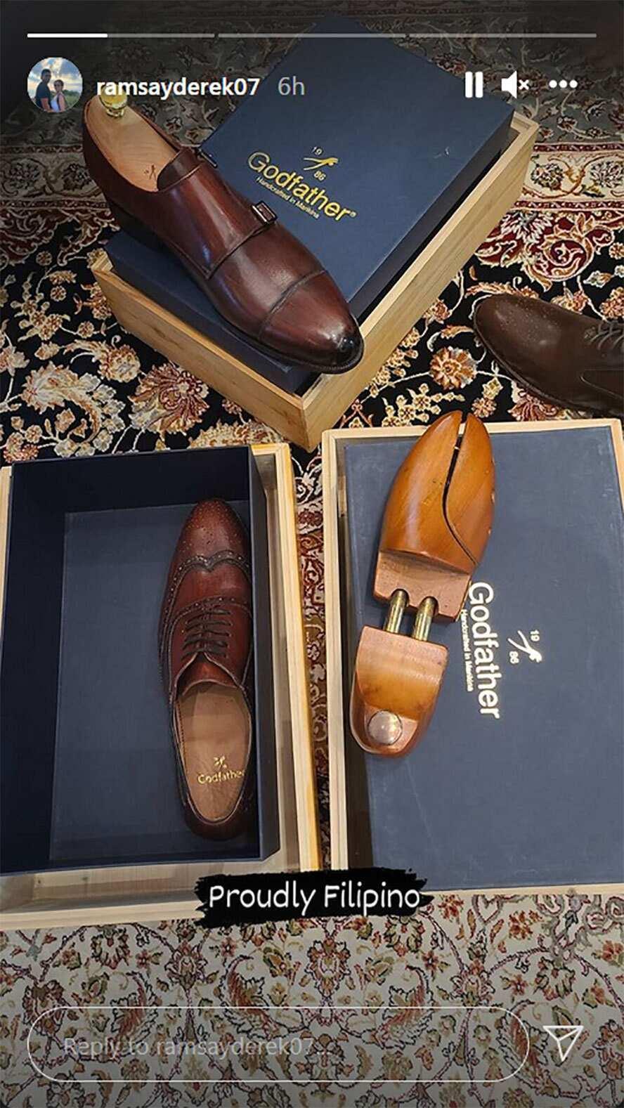 Derek Ramsay, ibinida ang mga design ng sapatos na pinagpipilian para gamitin sa wedding day