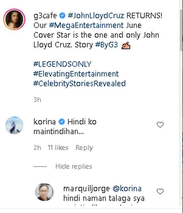 """Korina Sanchez, hindi naintidihan ang sinabi ni John Lloyd Cruz tungkol sa """"luminaw"""" sa isang interview"""