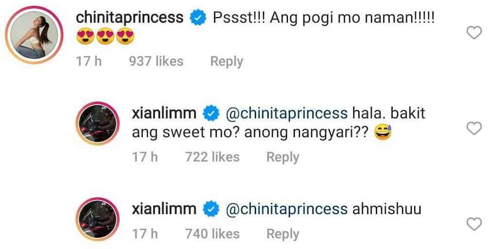 """Xian Lim reacts to girlfriend Kim Chiu's comment: """"Hala. bakit ang sweet mo?"""""""