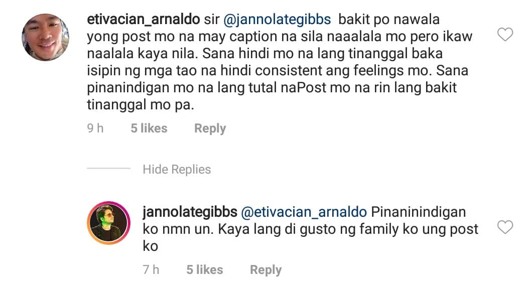 Janno Gibbs finally reveals his reason for deleting post against ABS-CBN