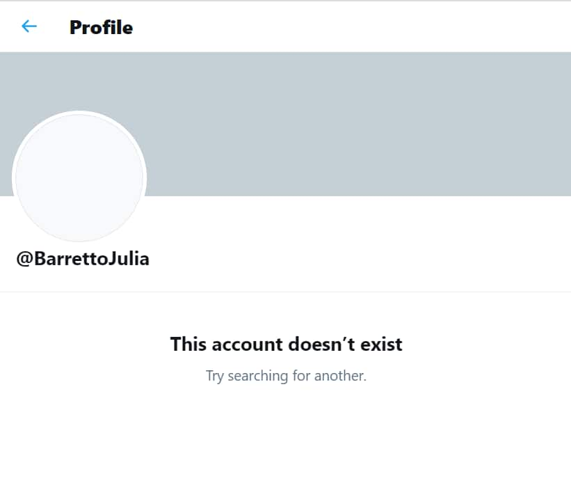 Julia Barretto's Twitter account has been deleted after getting hacked