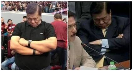 Fact check: Is Sen. Franklin Drilon sleeping during the UAAP Finals?