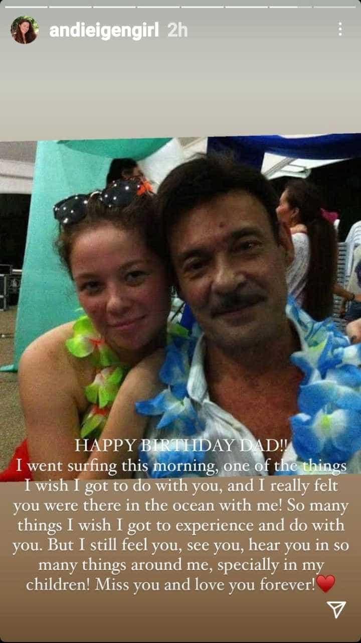 Andi Eigenmann pens heartfelt birthday message to late dad Mark Gil