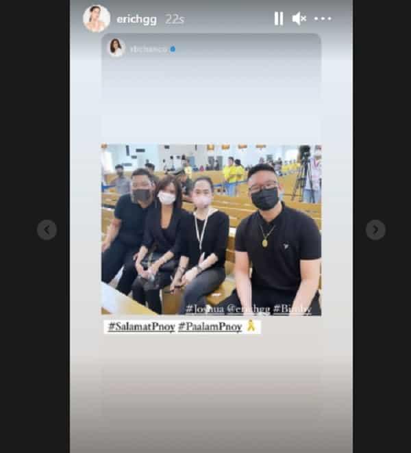 Erich Gonzales visits PNoy's wake; bonds with Josh & Bimby Aquino