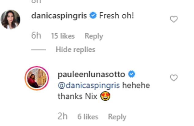 Danica Sotto reacts to Pauleen Luna's latest IG post