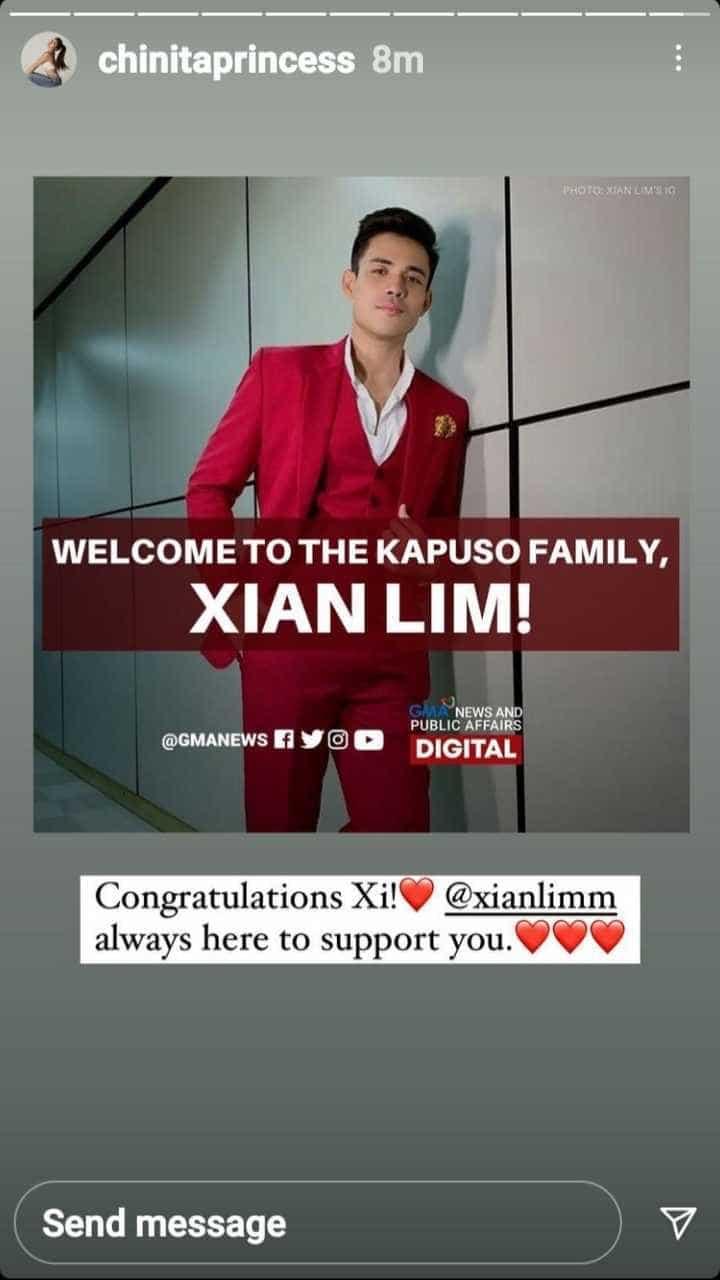 Kim Chiu, nagpakita ng suporta kay Xian Lim na ngayon ay Kapuso na