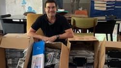 Edu Manzano helps provide computers to poor children in need