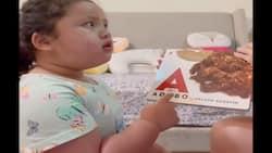 Video ni baby Tali Sotto na binabasa ang libro ng mga pagkaing Pinoy, kinaaliwan