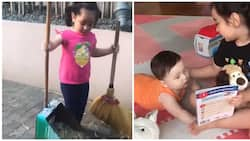 Scarlet Snow Belo learns some household chores