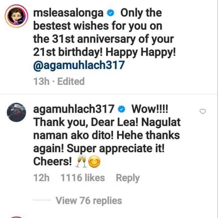"Aga Muhlach on Lea Salonga's birthday greeting: ""Nagulat naman ako dito!"""