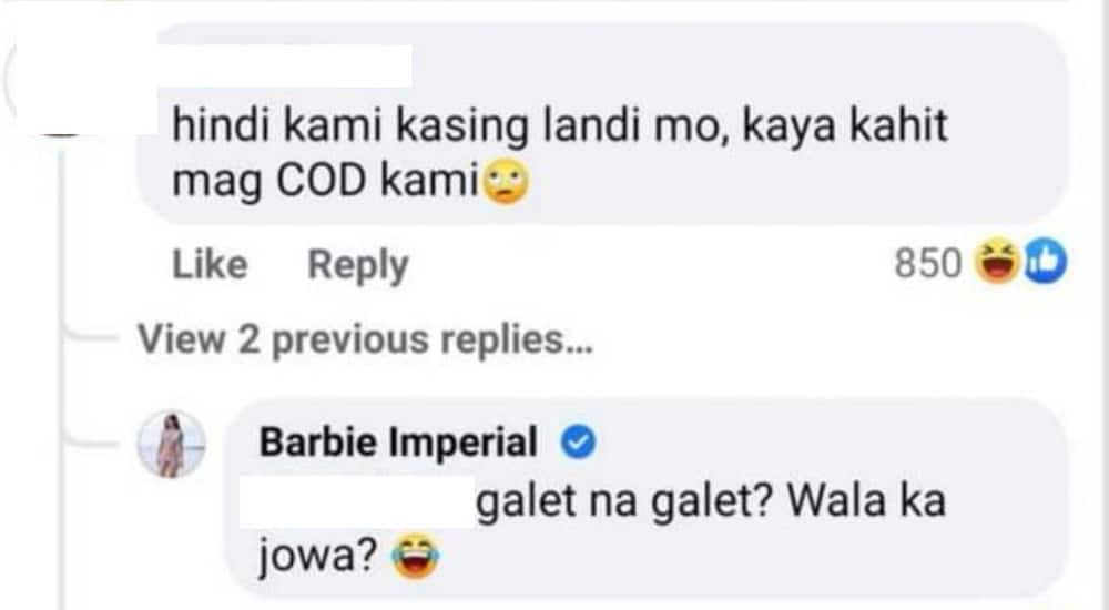 Barbie Imperial slams basher who rudely commented on article about her and Diego Loyzaga