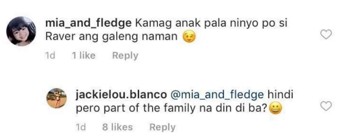Janine Gutierrez' aunt, Jackie Lou Blanco, reveals something about her rumored boyfriend, Rayver Cruz