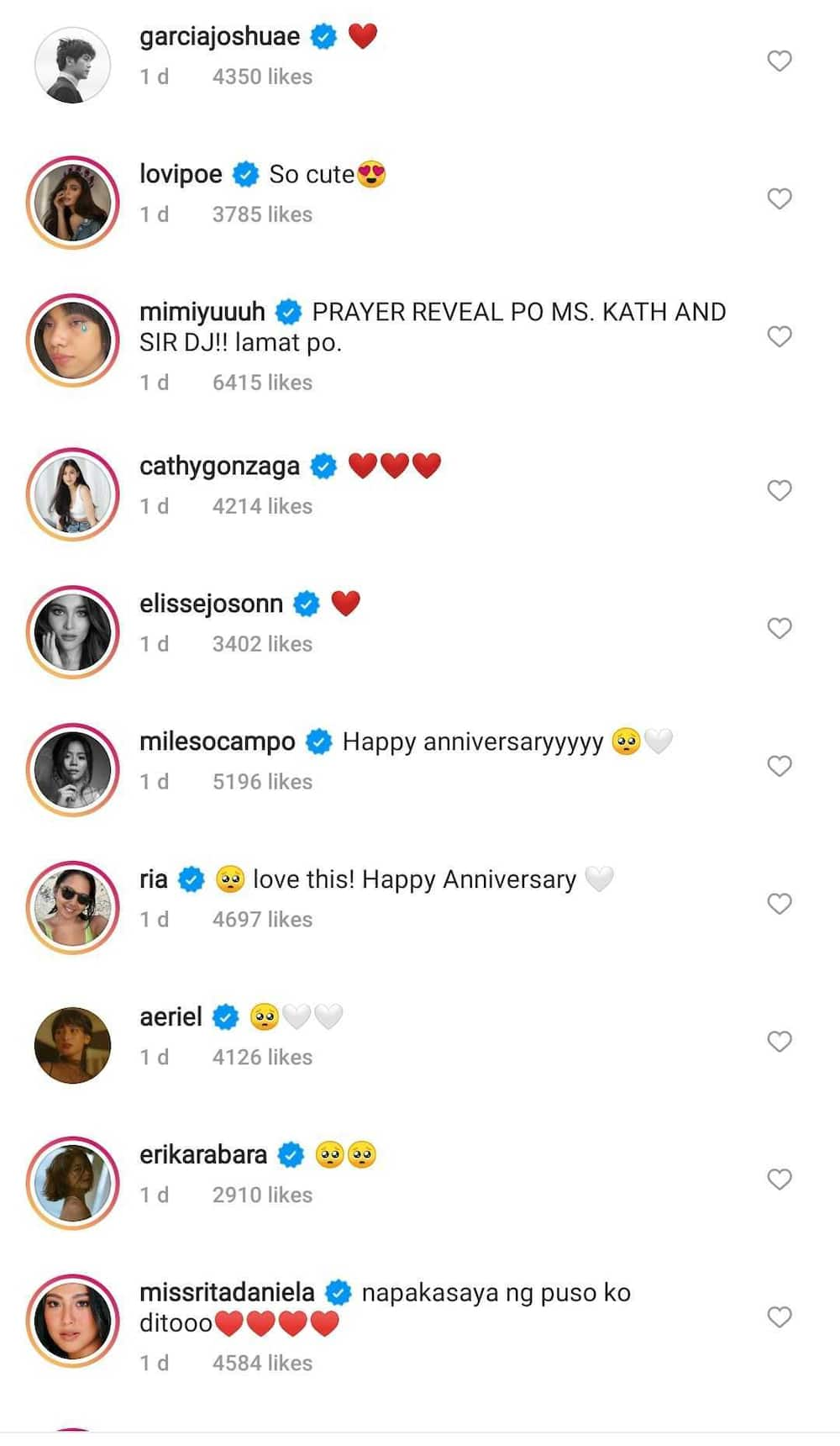 Celebrities express support for KathNiel's special documentary for their 10th year as love team