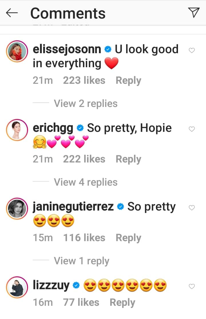 Liza Soberano posts fresh photos sporting her new hairdo; celebrities react