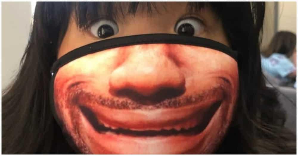 Good vibes! Lalaki, viral dahil sa kanyang agaw-pansing face mask