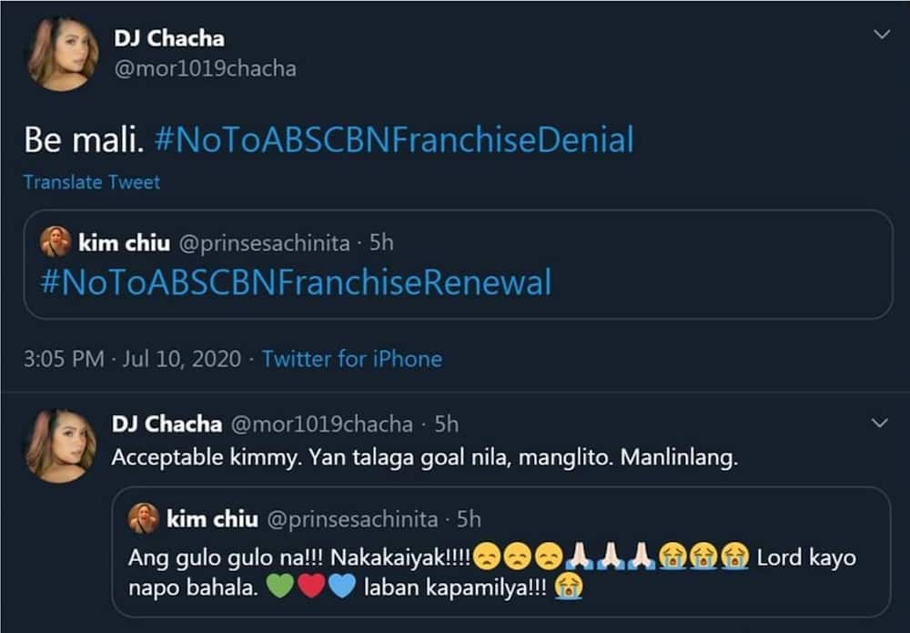 DJ Chacha reacts to erroneous post of Kim Chiu about ABS-CBN franchise