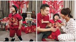 Liz Uy's son wearing a cheongsam charms netizens