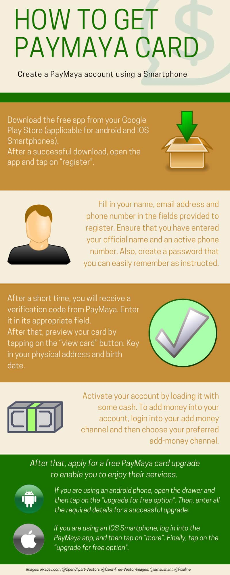 How to create a PayMaya account using a Smartphone
