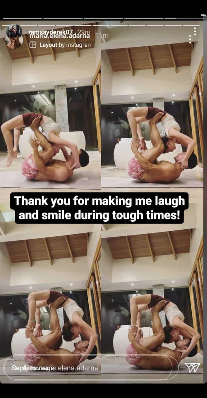 "Derek Ramsay thanks his fiancée Ellen Adarna for making him smile during ""tough times"""