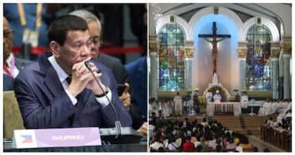 Pinaalis umano ni Pangulong Duterte ang mga pari sa turnover ng Balangiga Bells