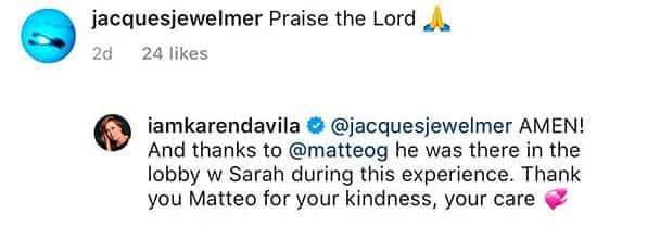 Karen Davila shares that Sarah and Matteo witnessed her son David's seizure