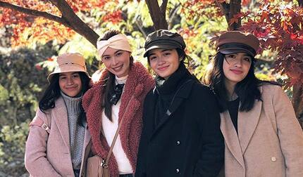 Sunshine Cruz posted a picture of her and her girls in South Korea and everybody is loving it