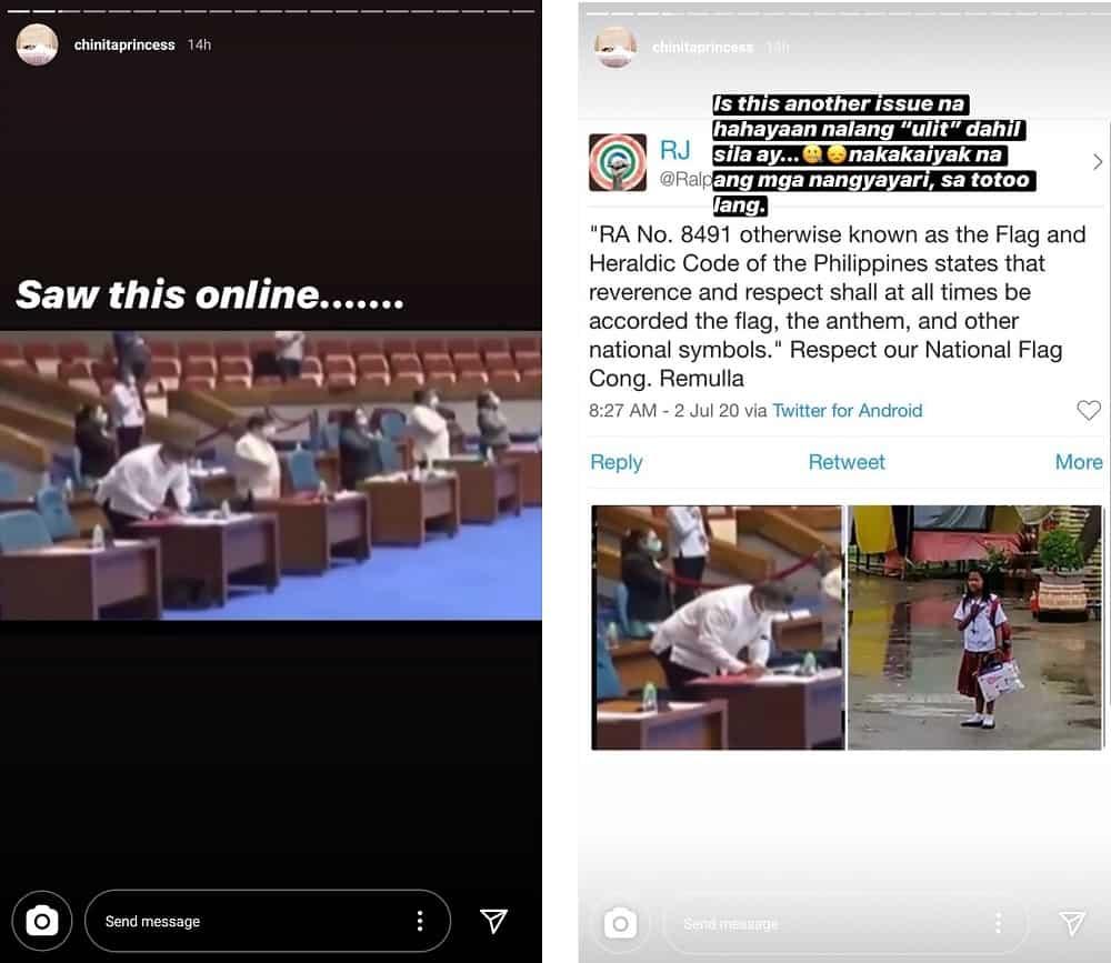 Kim Chiu posts about congressman caught writing during Lupang Hinirang