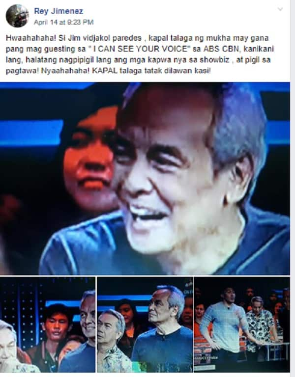 Fact check: Did Jim Paredes appear on a TV show after his controversial scandal?