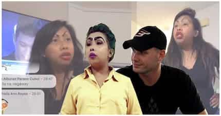 """Nagwarla ang magjowa! Madam Kilay at Afam nag-away dahil sa teleseryeng """"Halik"""""""