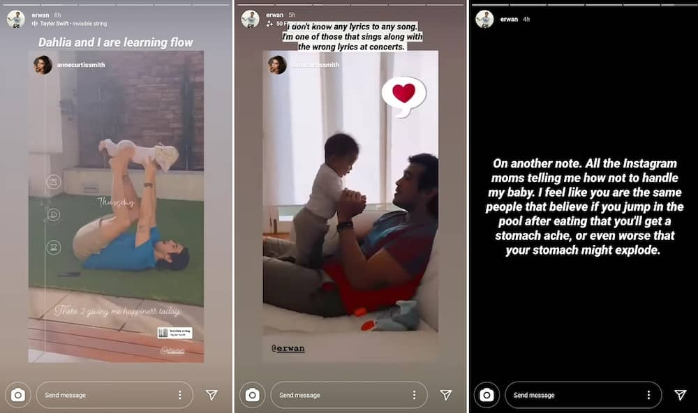 Erwan Heussaff takes swipe at mothers telling him how to handle his baby Dahlia