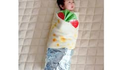 Liz Uy dresses baby Matias in burrito costume; gains netizens' admiration