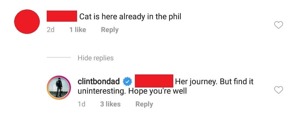 Clint Bondad's intriguing reply to netizen who updated him about Catriona Gray goes viral