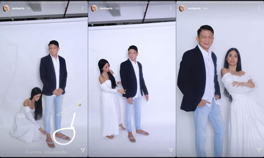 Heart Evangelista posts hilarious BTS pics from photoshoot with Chiz Escudero