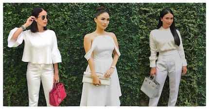 Love Marie loves white! Heart Evangelista's 11 most elegant & stylish white OOTD