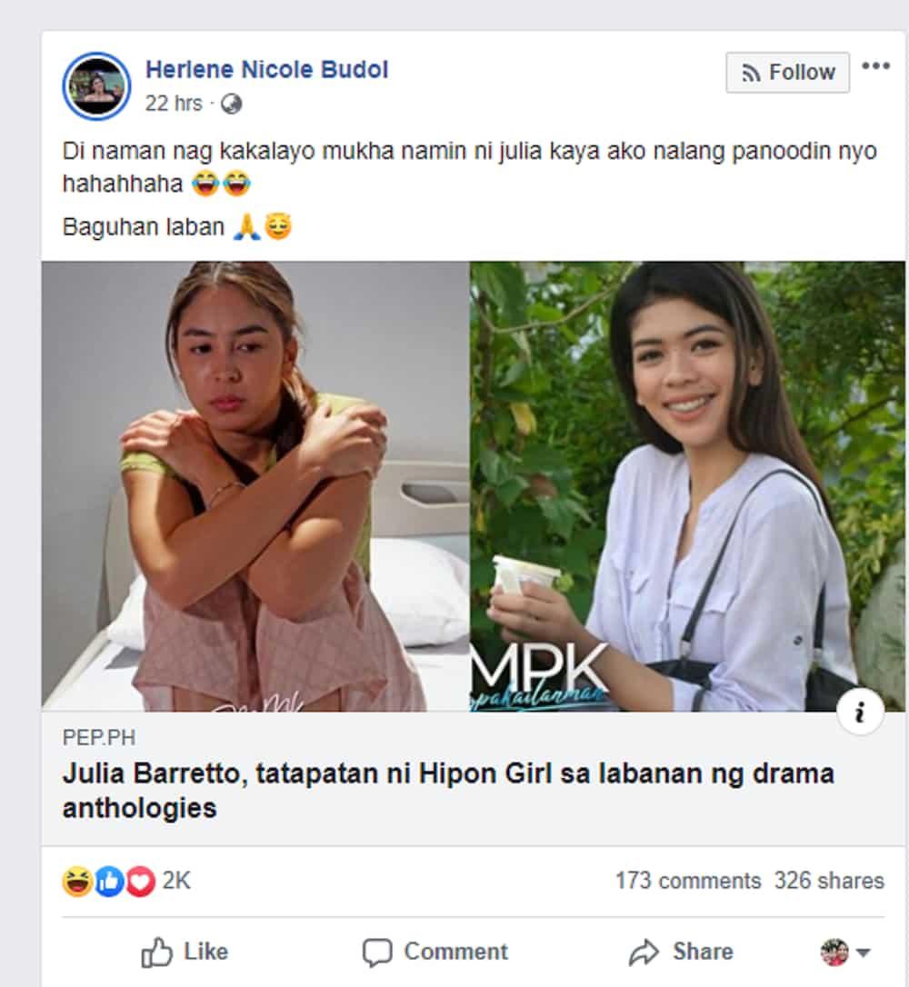 Hipon girl airs straightforward message for Julia Barretto