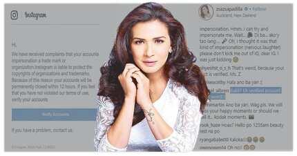 """Verified IG account ni Divine Diva Zsa Zsa Padilla nakatanggap ng """"complaints"""""""