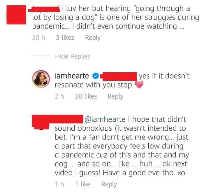 Heart Evangelista tells netizen to stop watching her content if she doesn't like it