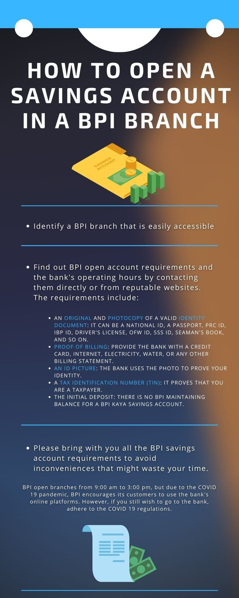 How to open BPI savings account