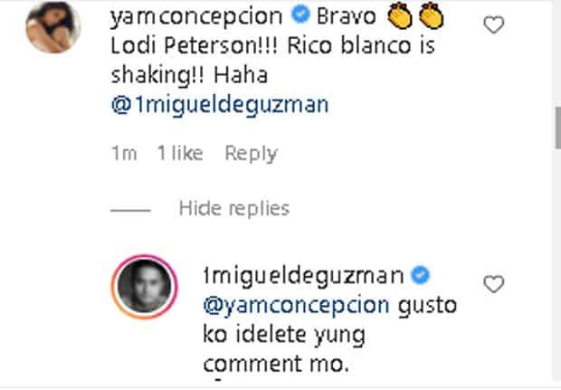 """JM De Guzman wants to delete """"Rico Blanco"""" comment of Yam Concepcion"""