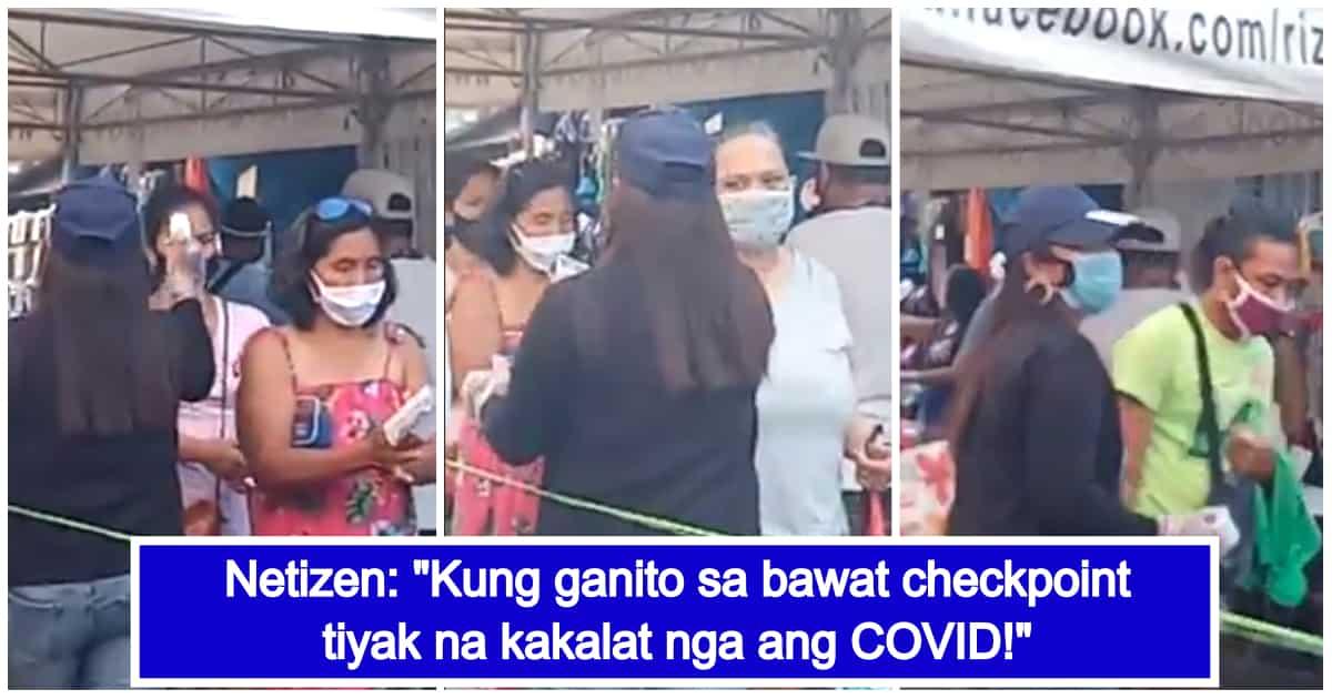 Video ng palpak na paggamit ng thermal scanner sa checkpoint, viral