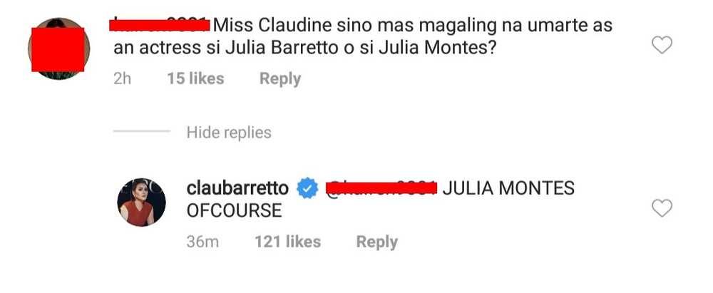 Claudine Barretto bravely said Julia Montes is better than niece Julia Barretto
