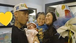 Zeinab shows Skusta Lee's Father's Day party with baby Bia & Lucas