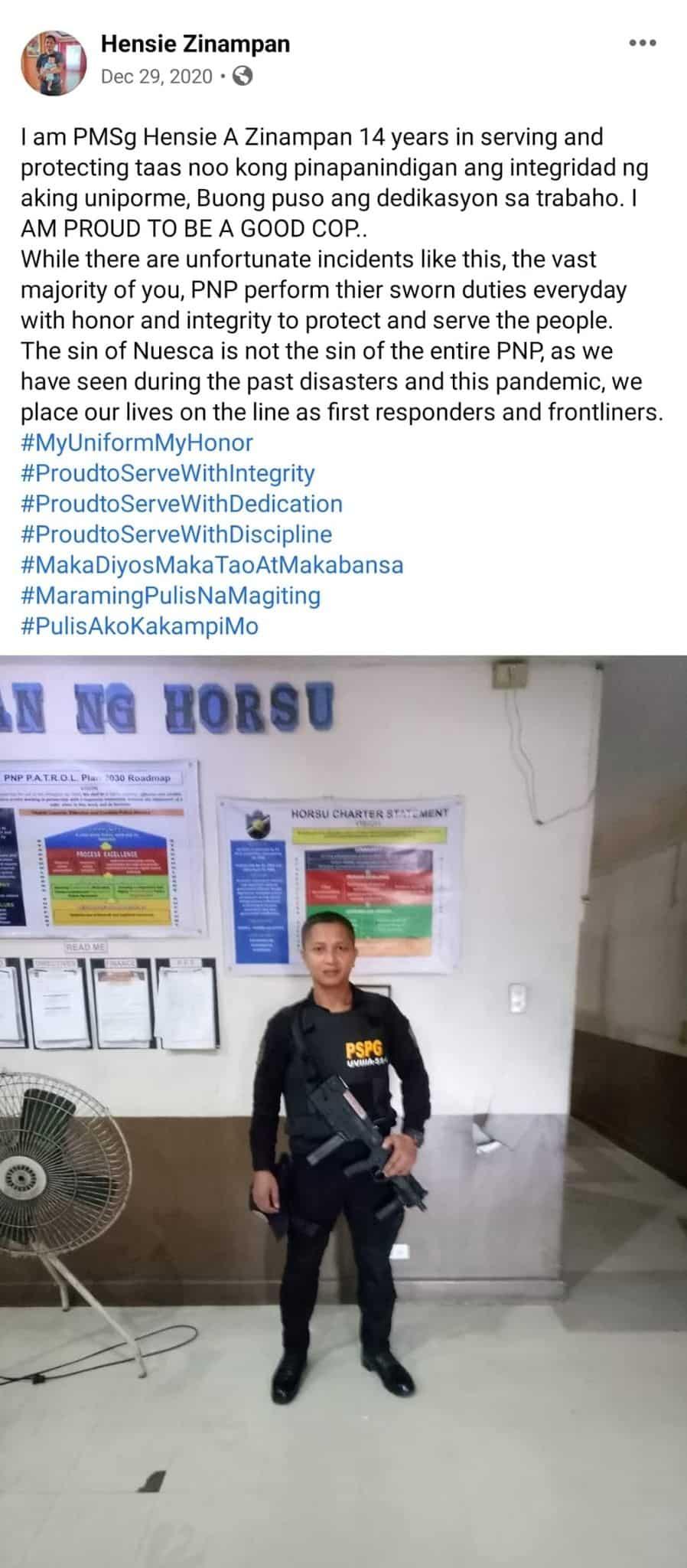 """Pulis na bumaril sa 52-anyos na lola, nag-viral ang lumang """"good cop"""" post"""